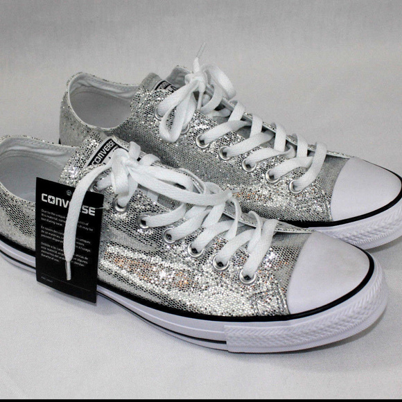 45128e54b7be Converse Chuck Taylor All Star Ox Silver Glitter 1